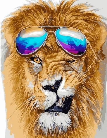 Купить картину по номерам Дерзкий лев (RDG-3191 ...