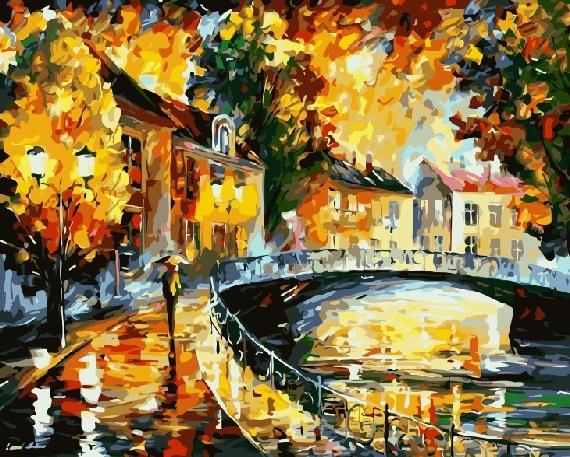 Купить картину по номерам Осень на улице (GX8226 ...