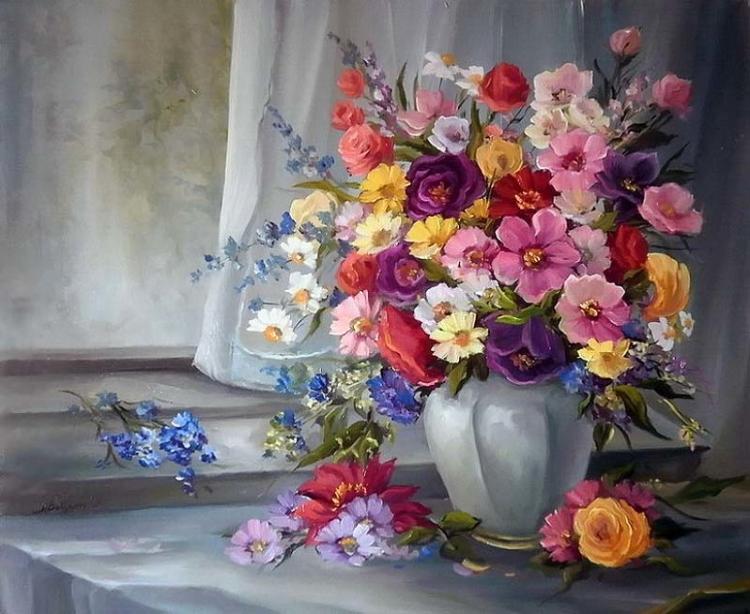 привороты букеты цветов в картинах художников теле появляется