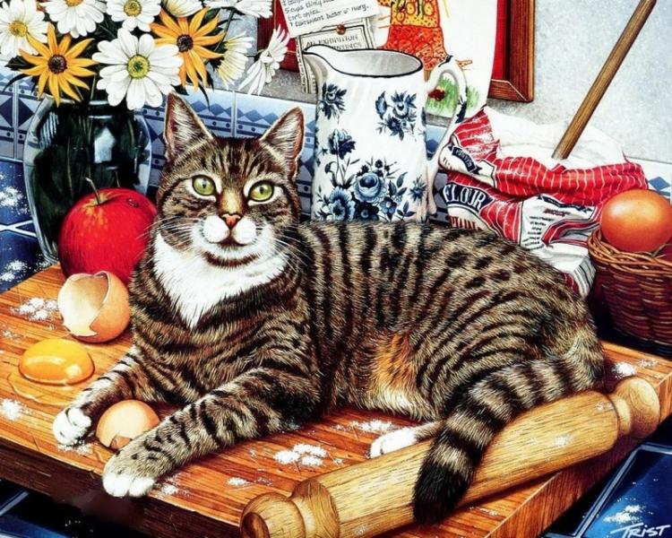 Купить картину по номерам Шкодливый кот (GX4141 ...