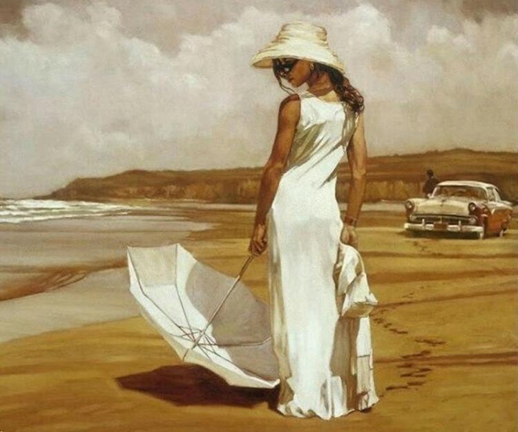 Купить картину по номерам Женщина на пляже (RDG-2922 ...