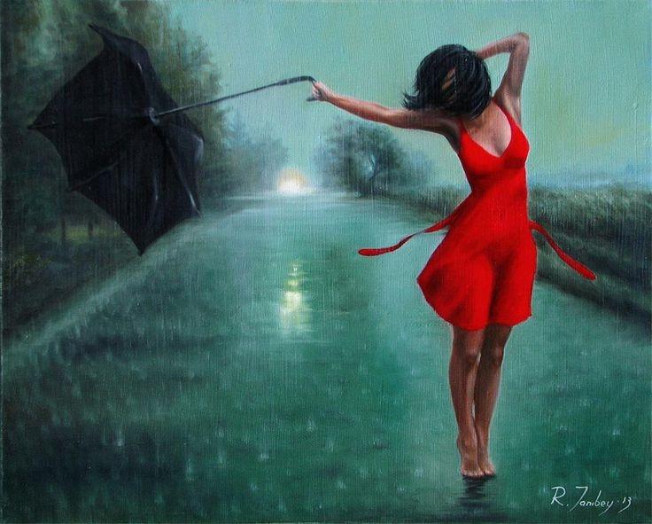 обеспечит девушка под дождём картинки Продолжительность: Рамиль