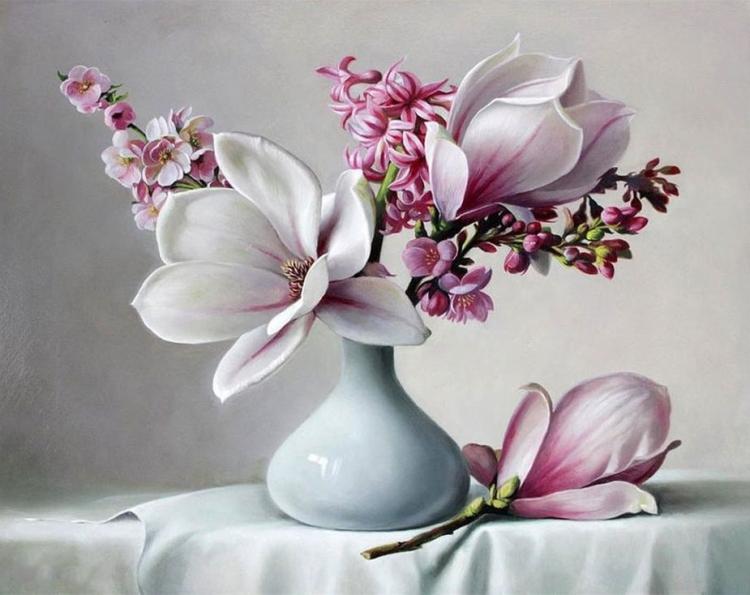 картинки где изображены цветы столики наделены массой