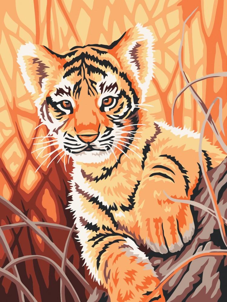 красивые рисунки тигренка отлично