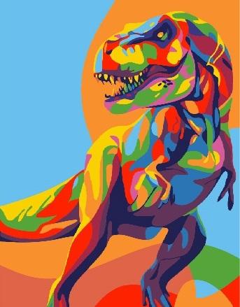 Купить картину по номерам Тираннозавр Рекс (CX3219 ...