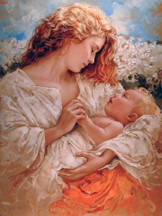 Матери с детьми в картинках
