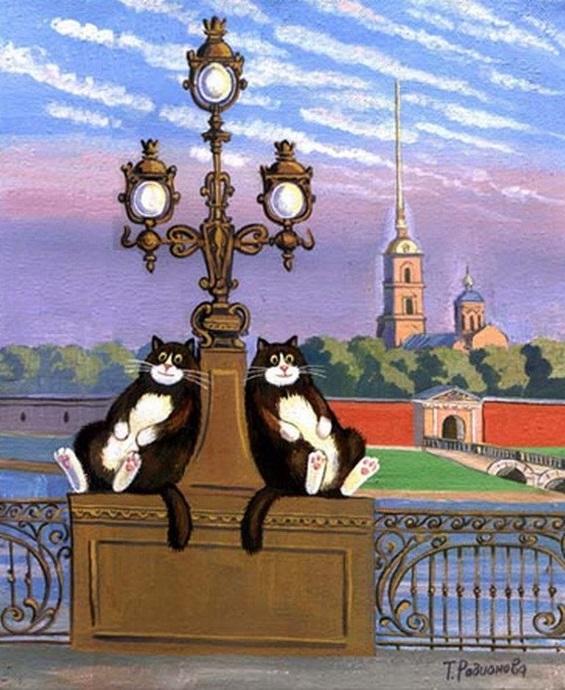 С днем рождения санкт-петербург открытки с котами, анимация