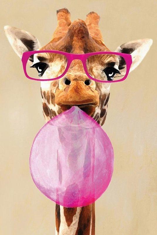 Купить картину по номерам Жираф в очках (VA-1085 ...