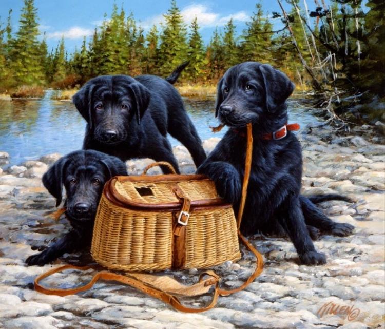 Купить картину по номерам Чёрные охотники (RDG-2744 ...